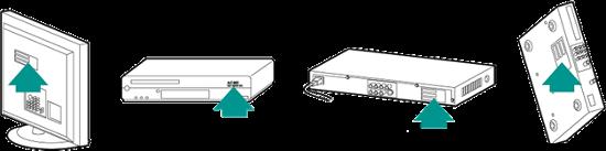 Typische Positionen der Gerätenummer
