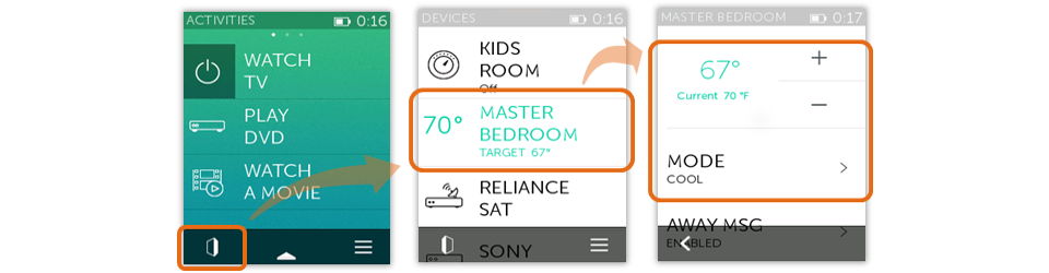 Nest Thermostat - Controlling from Ultimate Home